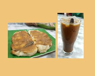 kopi susu dan roti bakar srikaya kedai kopi restu