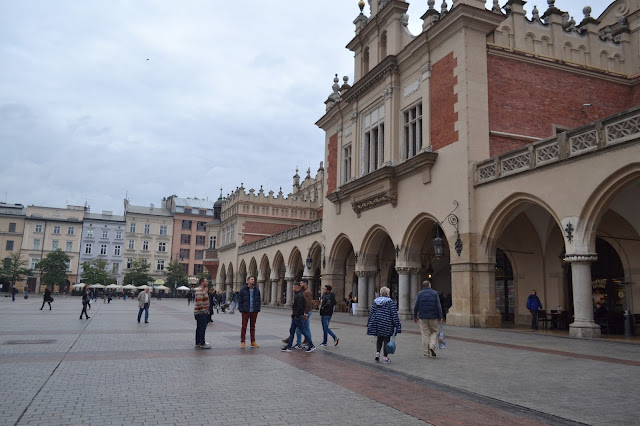 Cloth hall and Rynek Glowny, Krakow