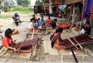 Embroidering Ulos In The Village Of  Jangga North Sumatra, Indonesia