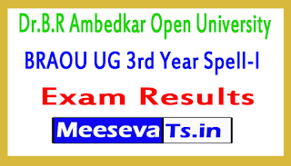 Dr.B.R Ambedkar Open University BRAOU UG 3rd Year Spell-l Exam Results