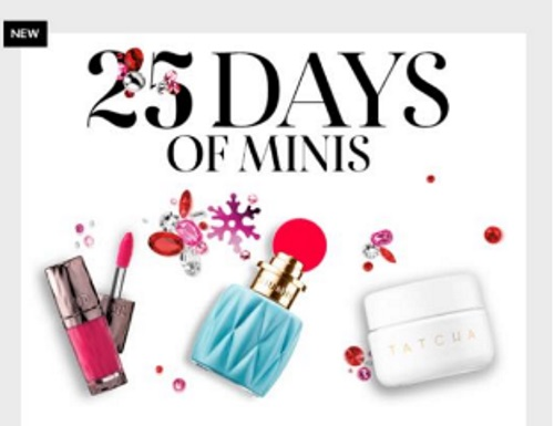 Sephora 25 Days of Mini Deluxe Free Samples