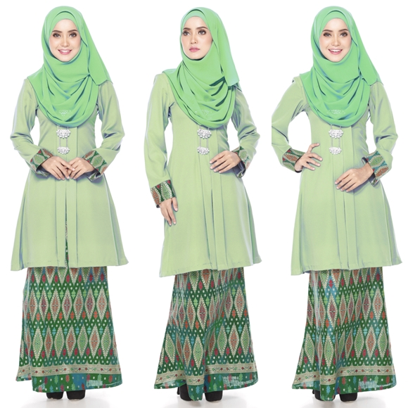 Baju Kurung Moden Kain Songket Fesyen Trend Terkini