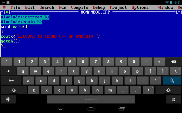 First Run android turbo c++