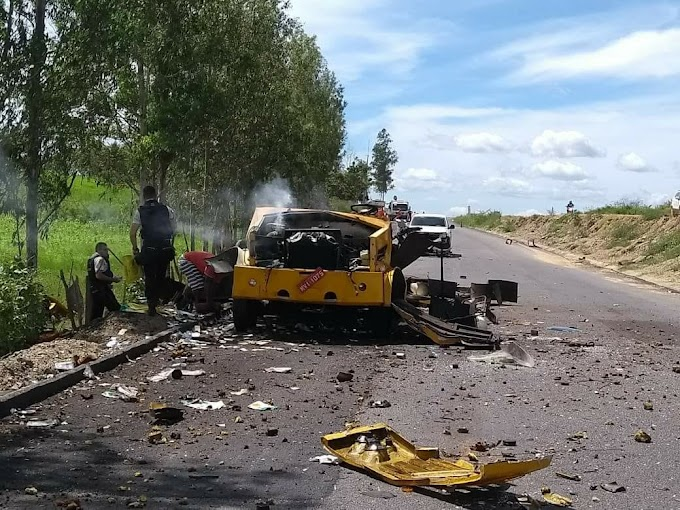 Criminosos explodem carro-forte em São Luís do Curu