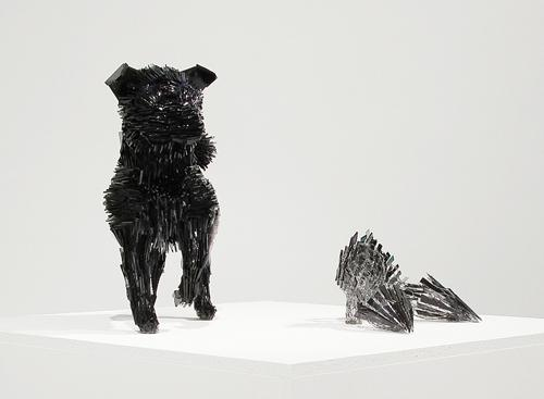 Marta-Klonowska-Animal-Glass-Shard-Sculpture-La-Marquesa-de-Pontejos-afte- Francisco-de Goya-1d