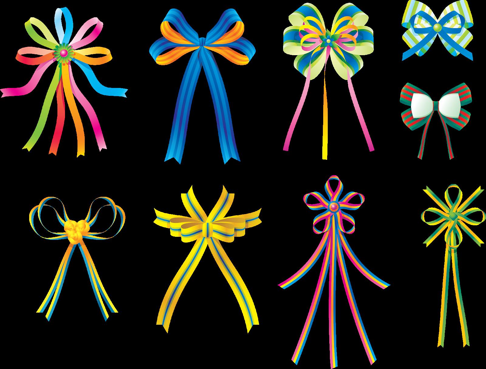 Бантики на открытки из ленточек