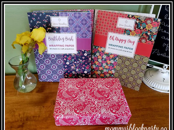Exquisite Gift Wrap for Life's Special Occasions by Vera Bradley + Gift Wrap Collection #Giveaway $80.00 RV #MBPSHGG18