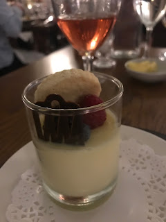 lemon posset with fruit topping stobo