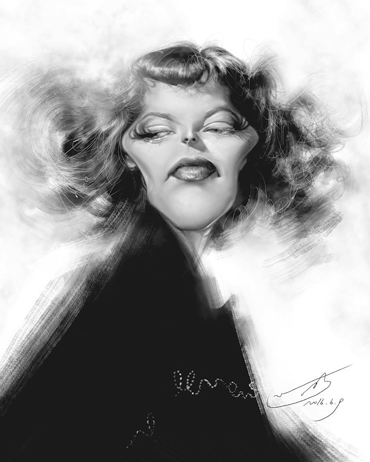 Katharine Hepburn por Rivorio Mok