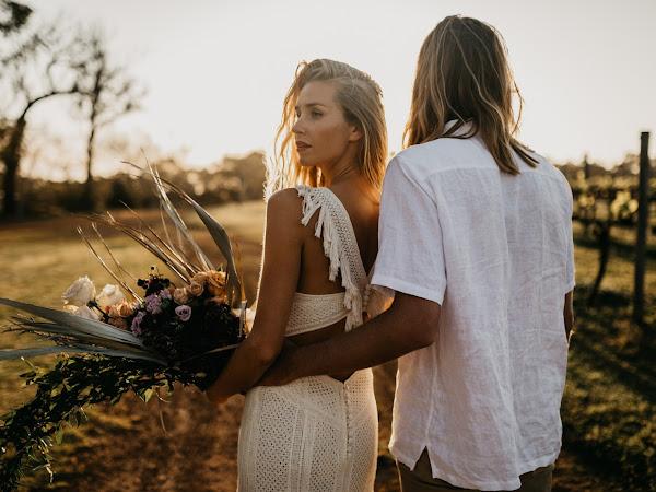 ➳ VINEYARD ESCAPE | STUNNING SUNSET WEDDING INSPIRATION STYLED SHOOT {MARGARET RIVER}