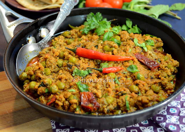 Kadhai Kheema ~ Mutton Mince & Green Peas Curry