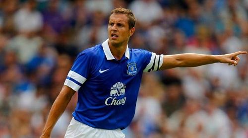 Jagielka thi đấu cho Everton từ năm 2007.