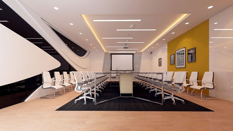 Thiết kế nội thất phòng họp đẹp phong cách trẻ trung
