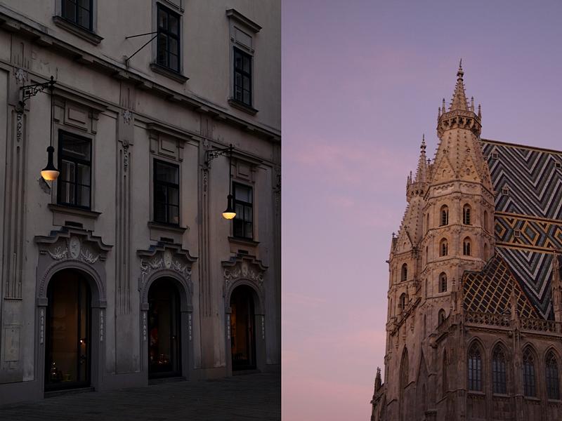 Historische Innenstadt und Stephansdom in Wien im Herbst