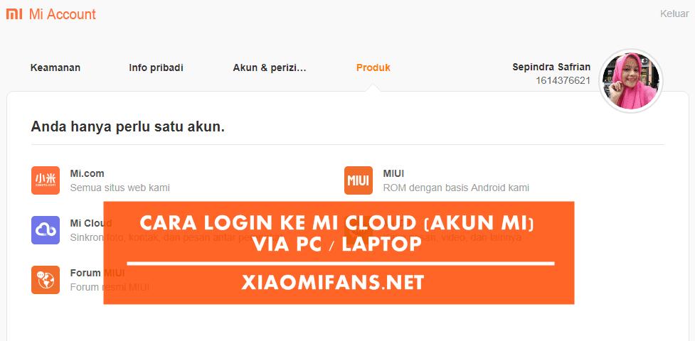 Cara Login ke MI Cloud