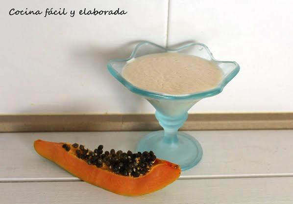 Batido de papaya o lechoza