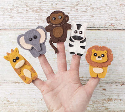 Create your own personalized finger puppets with Cricut!