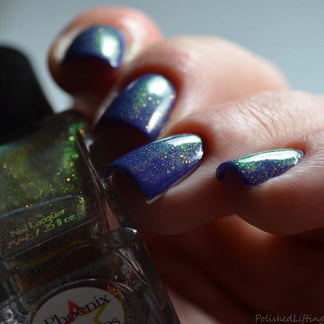 shimmer nail polish topper