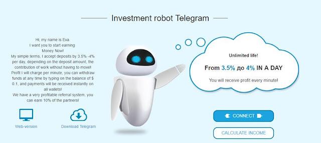 Đầu tư nhận lãi với Robot Eva (Tương tự LaraWithMe)