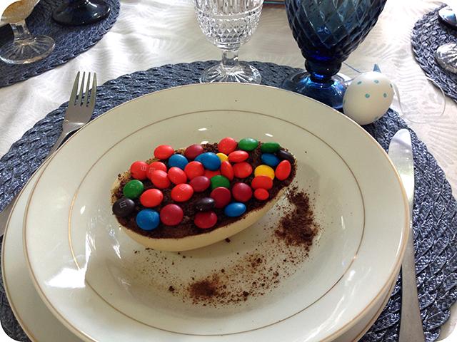 Almoço de Páscoa em Família : Ovo Recheado