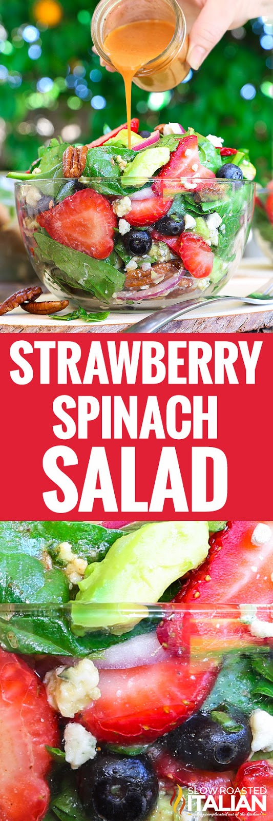 titled photo for Pinterest (and shown): Strawberry Spinach Salad