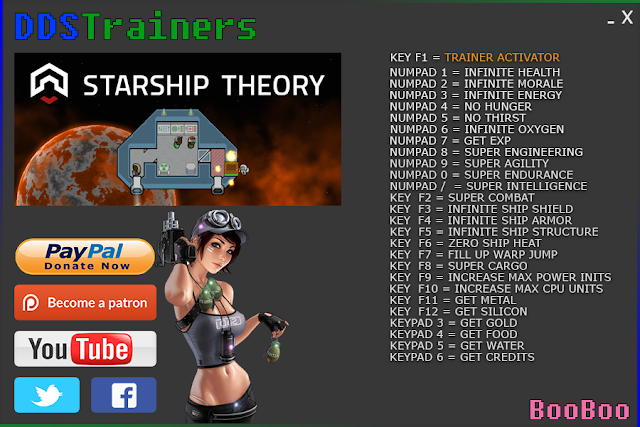 Starship Theory Trainer Cheat for PC