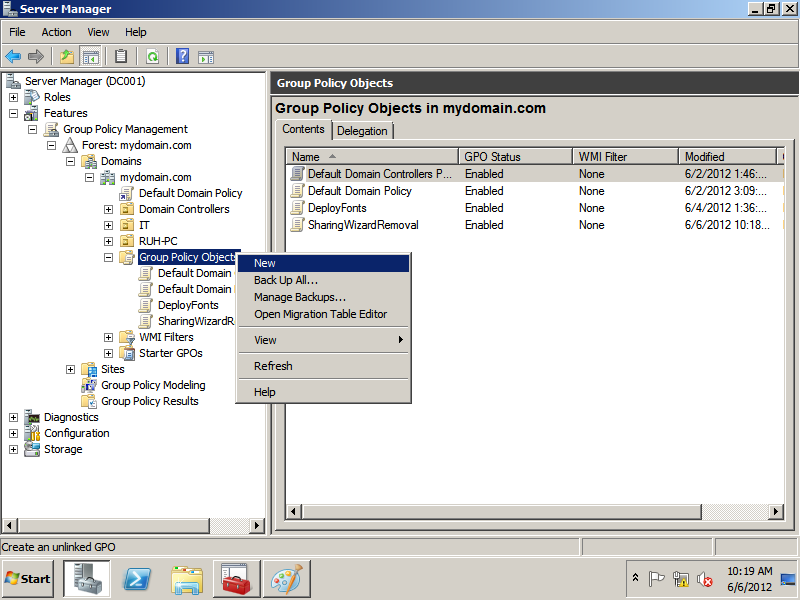 Enable or disable File Sharing with Group Policy