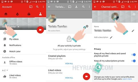 Cara Mengganti Foto Profil Youtube Android