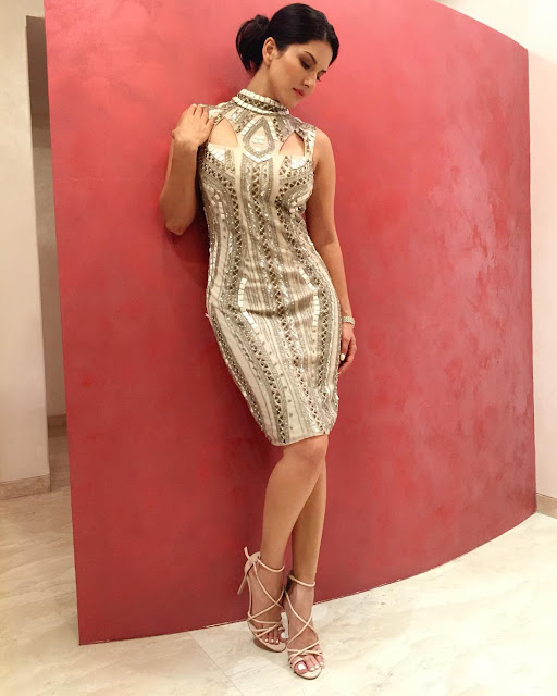 sunny-leone-in-dress-with-pose