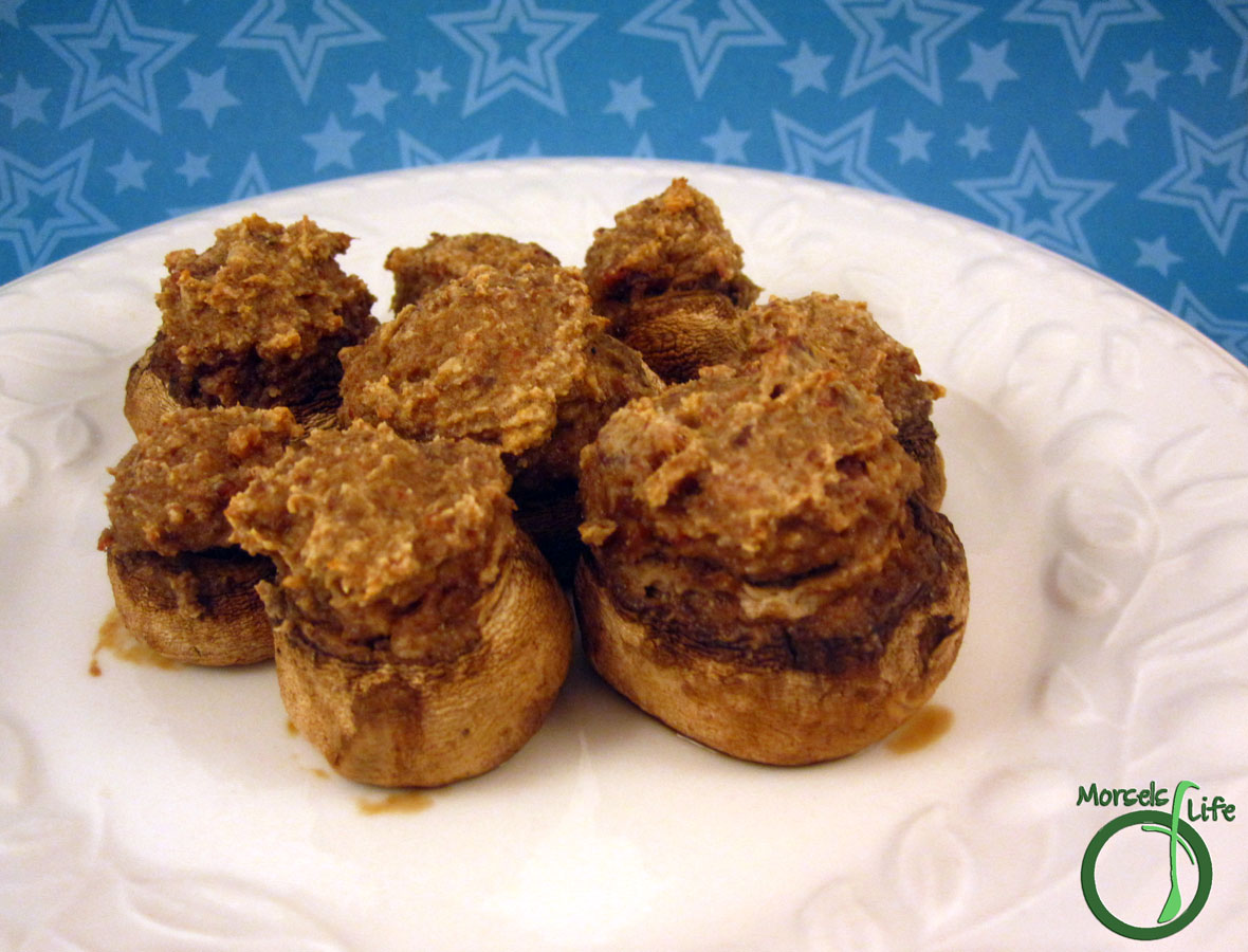 Morsels of Life - Bacon Stuffed Mushrooms - Fill some button mushrooms with a bacon and onion cream cheese mixture to make Bacon Stuffed Mushrooms.