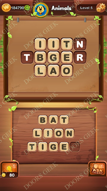 Word Bright Level 5 Answers, Cheats, Solutions, Walkthrough for android, iphone, ipad and ipod