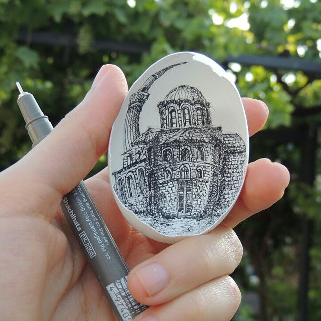 11-Sorry-no-information-Süreyya-Noyan-Architecture-Drawings-Art-Paintings-in-an-Egg-www-designstack-co