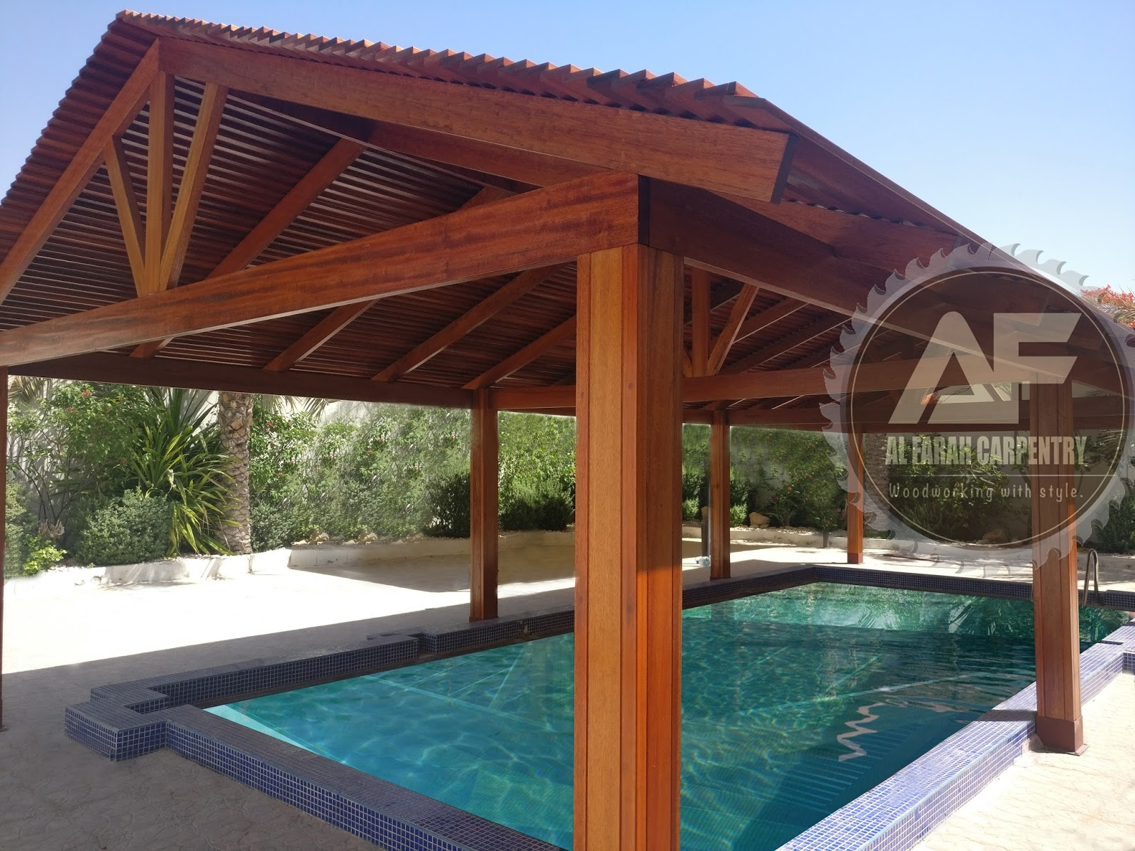 Wooden gazebo garden gazebo in uae cabanas gazebo uae gazebo uae for Swimming pool suppliers in dubai