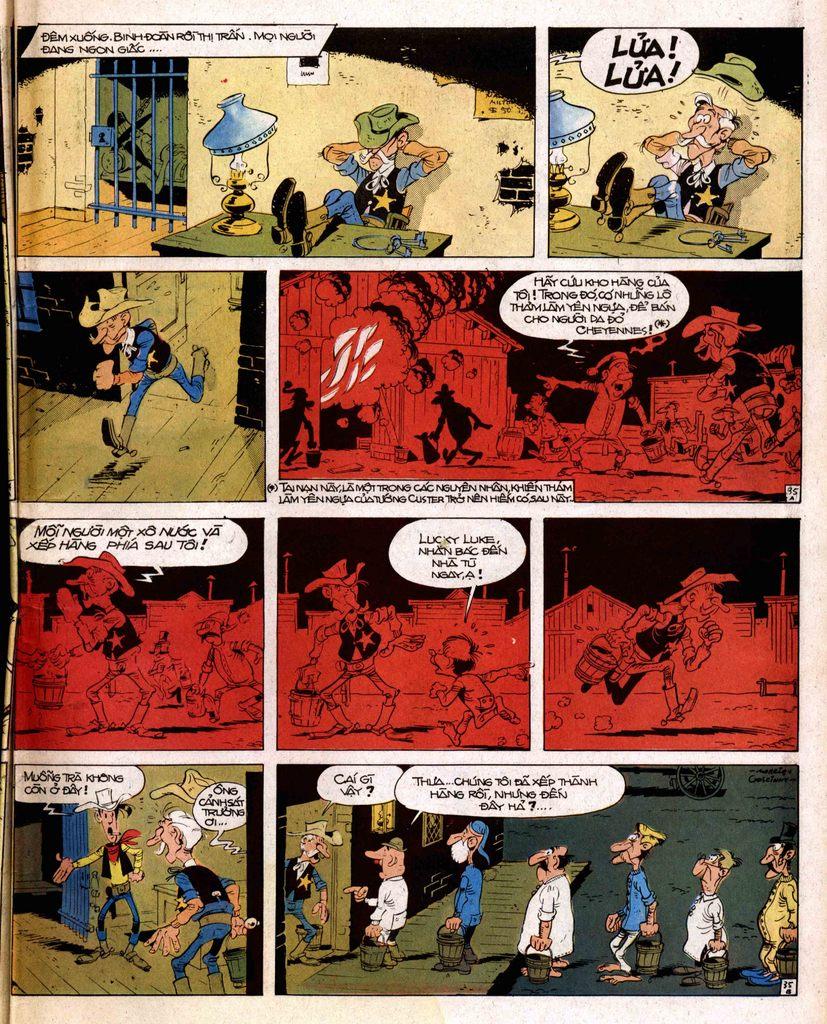 Lucky Luke tap 2 - ke san tien thuong trang 35