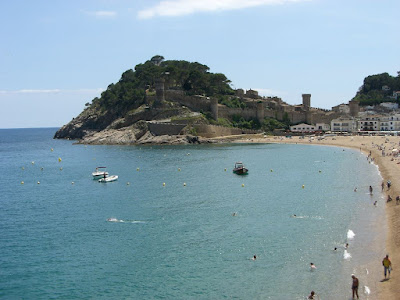 Beach and castle in Tossa de Mar