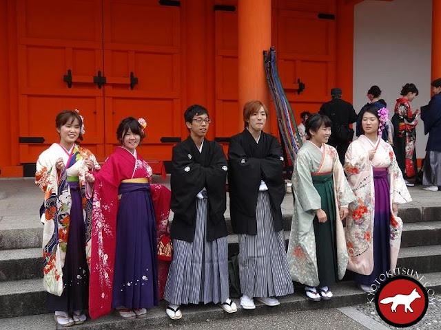 Etudiants de Kyoto pratiquant le tir à l'arc