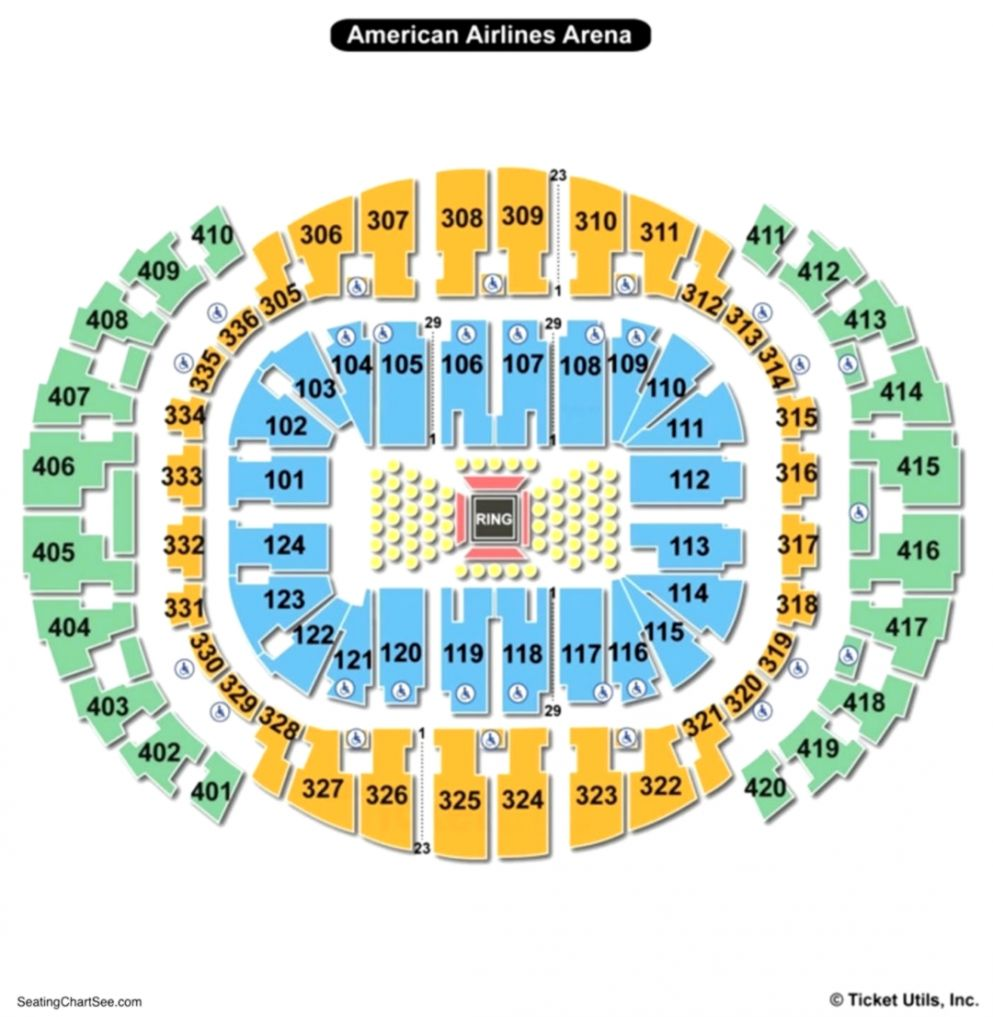 American Airlines Arena Seating Chart Charts Tickets