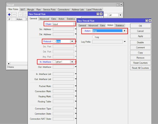 Cara Memblock Paket ICMP Pada Mikrotik (Blok Ping)