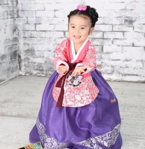 fcac9d255 Hanbok Girl 7026 Korean traditional Dress Korea Baby 1st birthday Party Kids