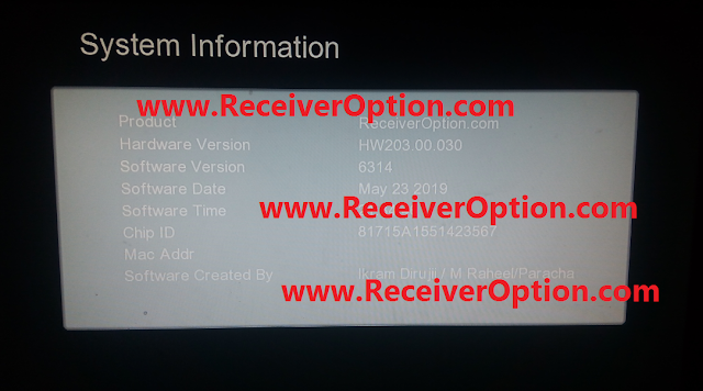 GX6605S HW203.00.030 HD RECEIVER CLINE OK NEW SOFTWARE