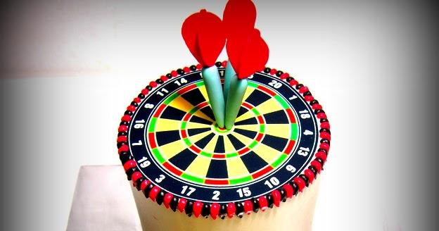 The Sensational Cakes Bullseye Dart Board Rainbow Cake