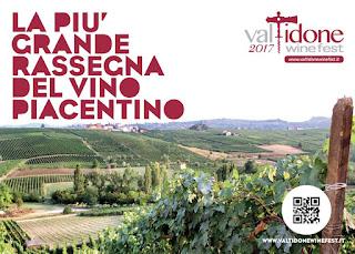 Valtidone Wine Fest dal 3 al 24 settembre Borgonovo - Ziano - Nibbiano -  Pianello (Pc)