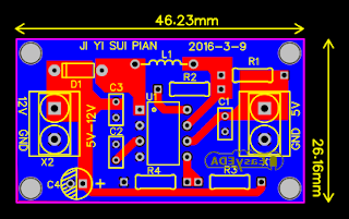 5V to 12V Voltage PCB Layout Design