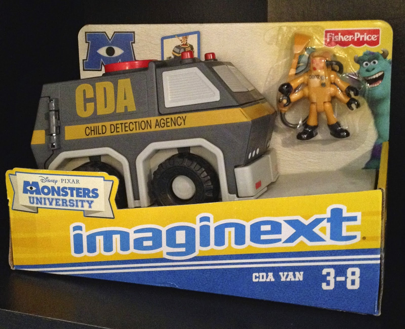 Dan The Pixar Fan Monsters Inc Imaginext Cda Van