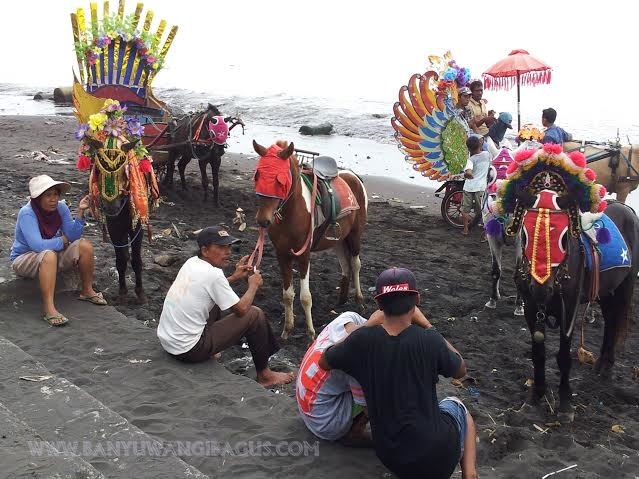 Naik kuda di Pantai Blimbingsari.