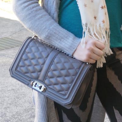 Rebecca Minkoff Love cross body bag in grey | AwayFromTheBlue