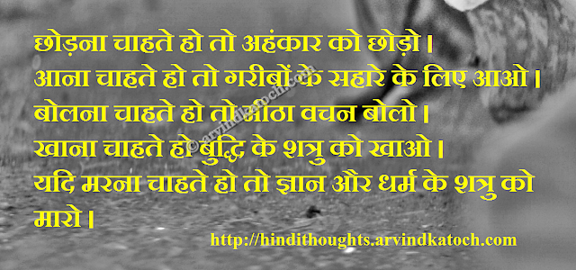 Hindi Thought, Hindi Lines, Ego, Enemy, religion, knowledge
