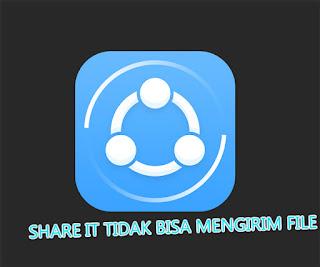 share it tidak bisa menerima file