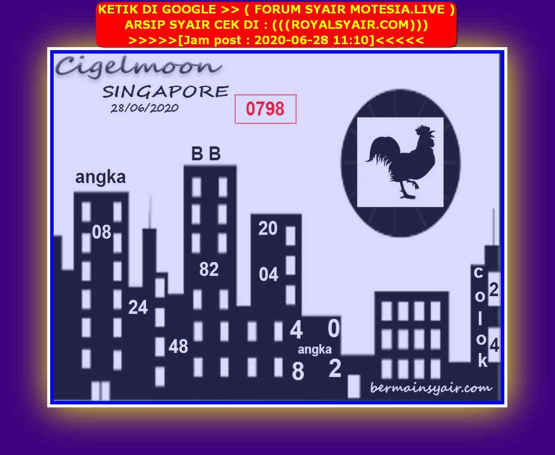 Kode syair Singapore Minggu 28 Juni 2020 88