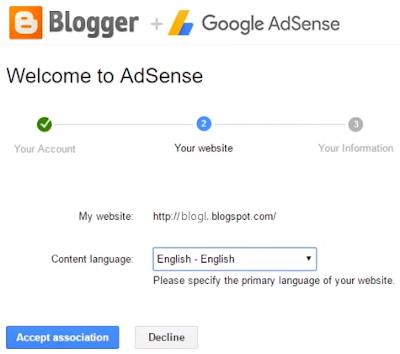 Apply for AdSense via Blogger blog